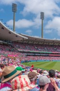 Part of the crowd in the SCG watching the action.