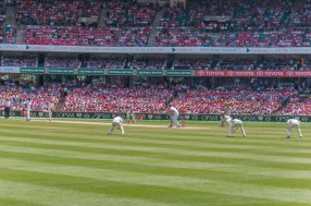 The last wicket about to fall...