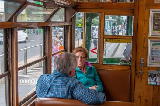 Inside the City Circuit Tram