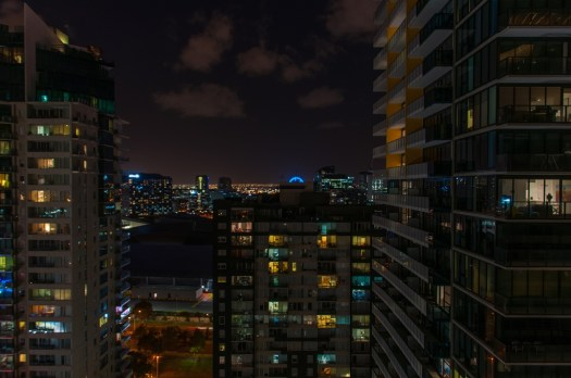 Night scape from our 24th floor apartment