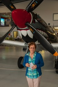 Mother in front of the Mk16 Spitfire