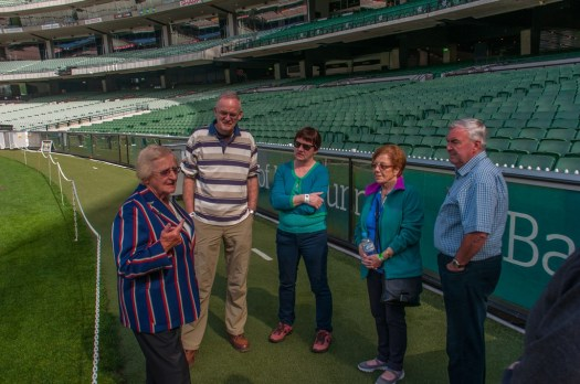 The MCG guide shows us round the ground