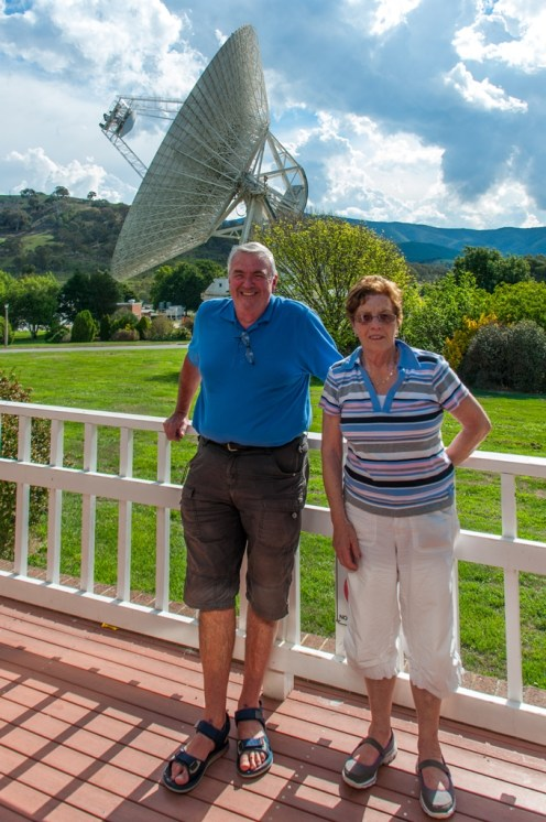 Mum and dad in front of the at Tidbinbilla.