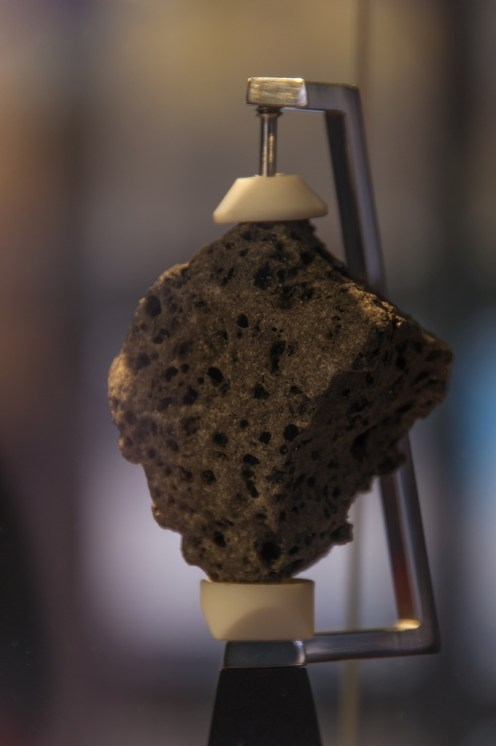 An actual piece of moon rock.