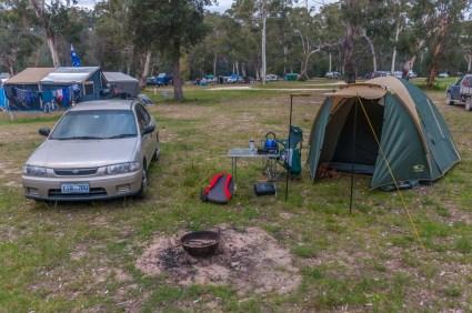 My campsite at Boydtowm Campsite