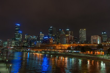 The northbank of the Yarra river