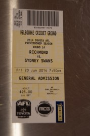 Match Ticket, only $25