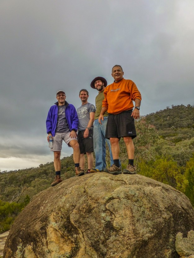 Phil, Brian, Pat and Tony on top of a big rock!