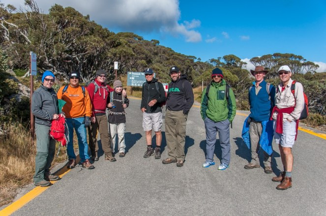 At the start of the hike at Charlotte pass