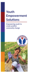 The front cover of the YES brochure.