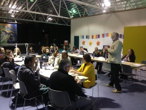 A photo of a YES training event.