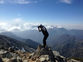 Peaking at Mount Baldy in SoCal - love to Joshua Cooper for helping me climb the mountain.