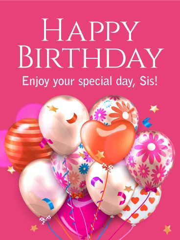 Birthday Cards For Sister Free Download : birthday, cards, sister, download, Birthday, Cards, Sister, Design, Template