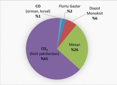 Sera gazlarının atmosferde bulunma yüzdesi