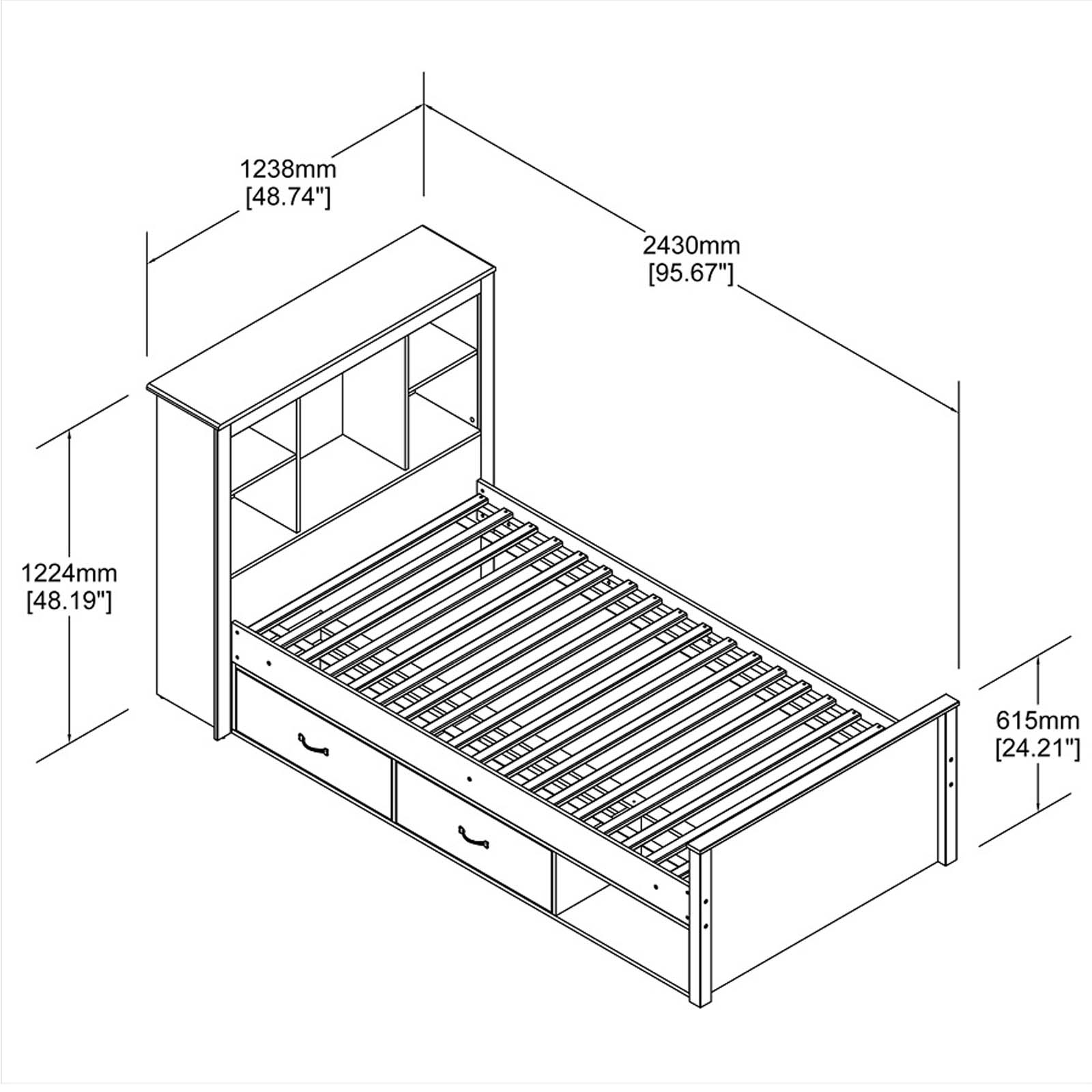 New King Size Fabric Bed Frame