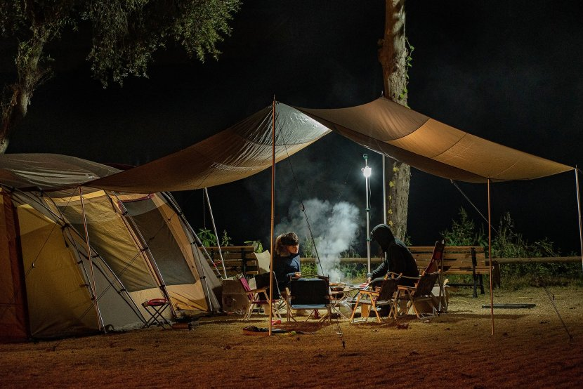 live in a tent