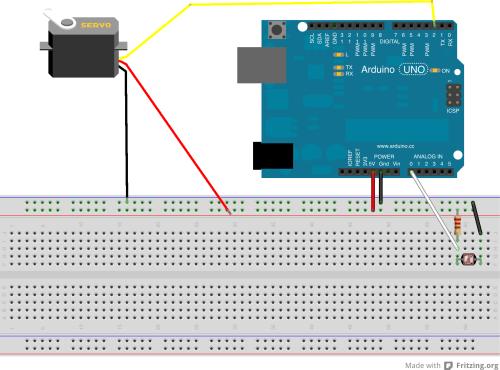 small resolution of light sensor servo arduino