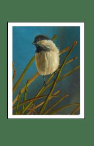 chickadee oil painting by Yeshua's Child Art