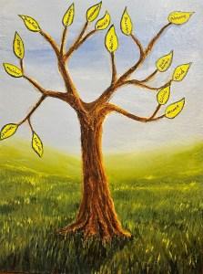 Prophetic tree acrylic painting