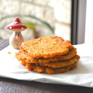 6 ingredient Cheesy Sweet Potato Hash Browns
