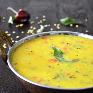 Dal Tadka using Split Yellow Lentils