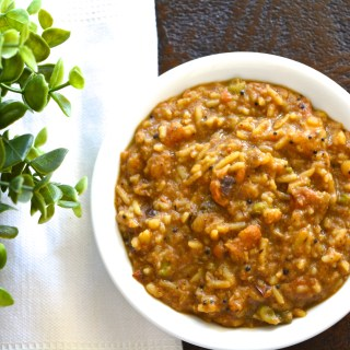 Authentic Bisibela bath -an Indian Lentil Rice in a tamarind sauce