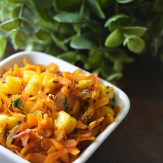 Carrot Sweet Corn Stir Fry