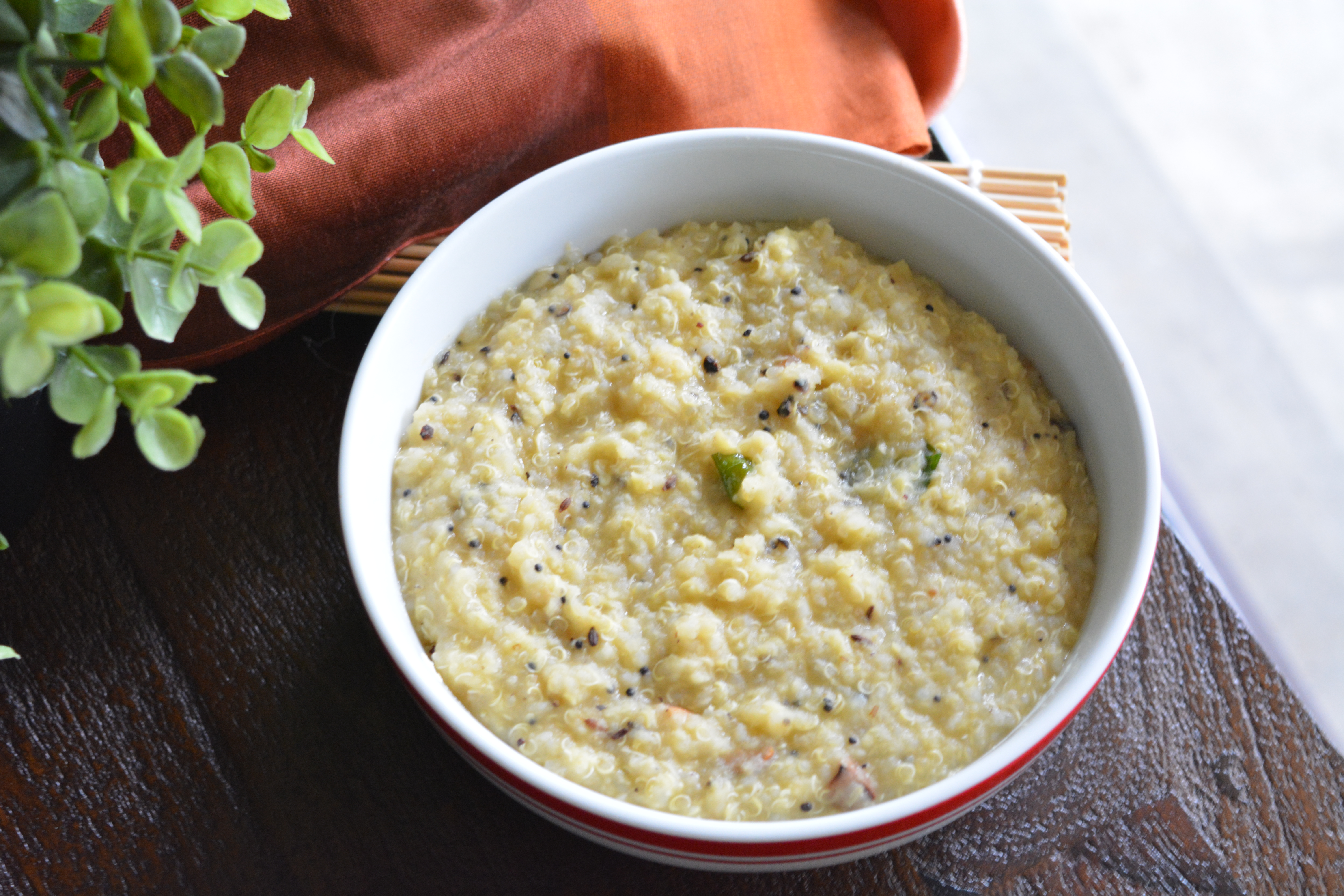 Quinoa pongal it is also not a vegan breakfast if you have it in india loaded with ghee sometimes even milk added to get a better consistency if you are vegan forumfinder Images