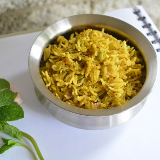 Mint Biriyani with Garden peas
