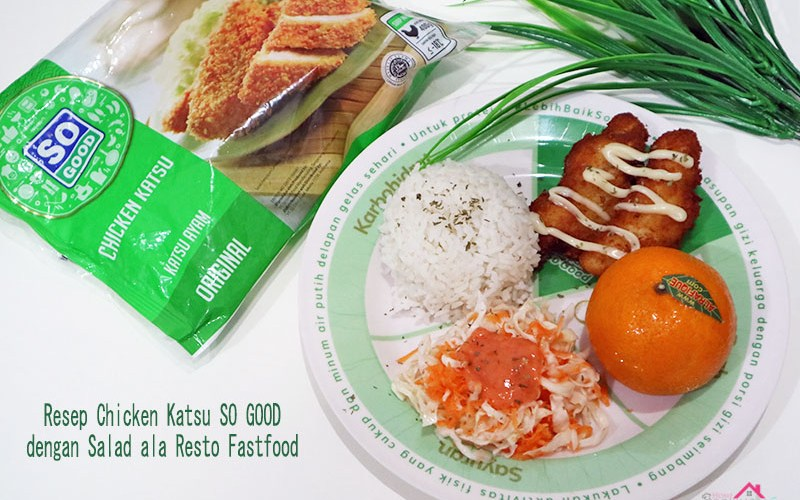 Resep Chicken Katsu dengan salad ala resto fasfood