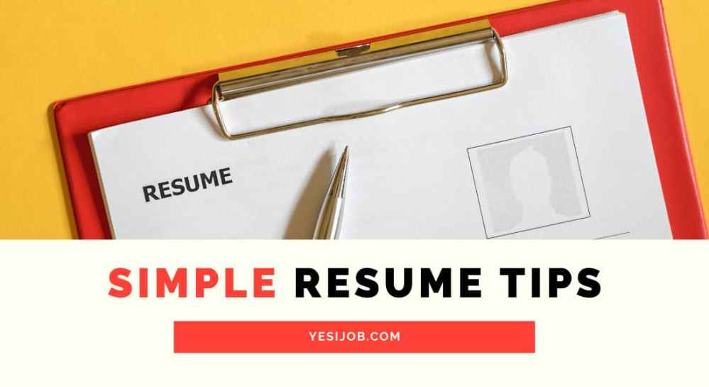 Simple Resume Tips