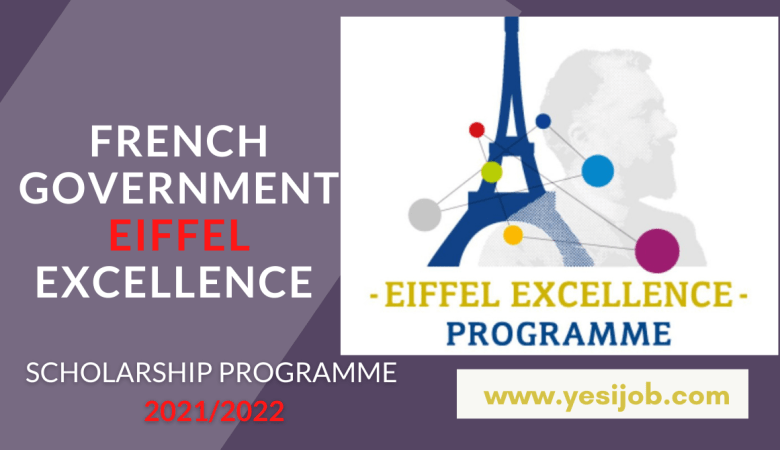 French Government Eiffel Excellence Scholarship