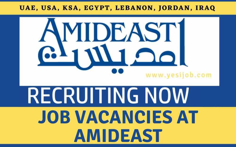 Job Vacancies at AMIDEAST: