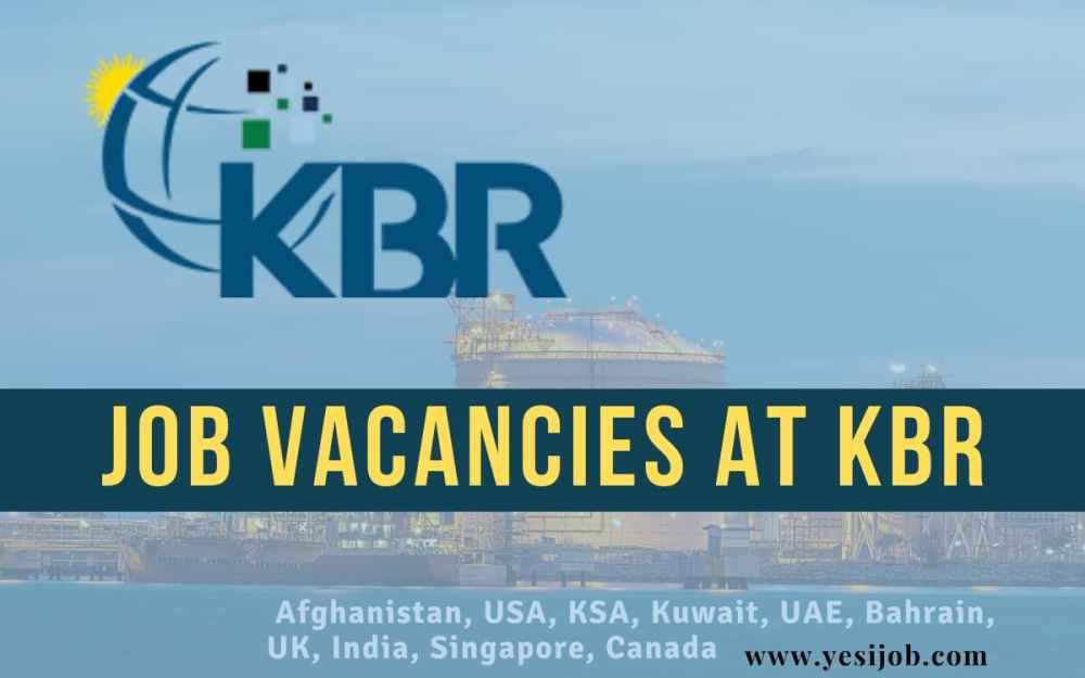 KBR Job Openings 2021