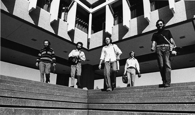 Simon Frazer Üni.'de WSP üyeleri, soldan sağa R. M. Schafer, Bruce Davis, Peter Huse, Barry Truax, Howard Broomfield