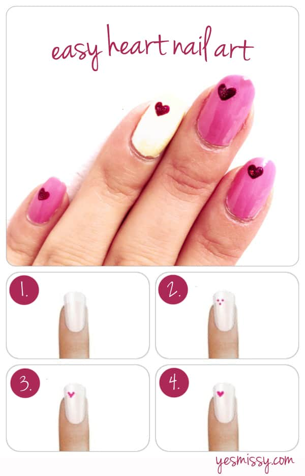 Nail Diy How To Create Heart Designs