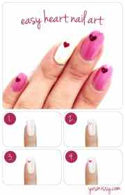 nail diy create heart