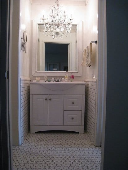 Decor Inspiration Chandeliers in the Bathroom  Yes Missy