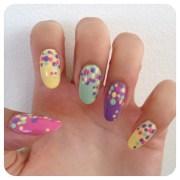 diy adorable polka dot nails