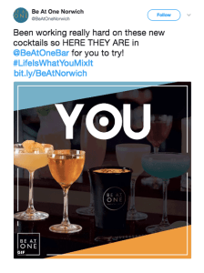 Be At One | YesMore Client Alcohol Marketing