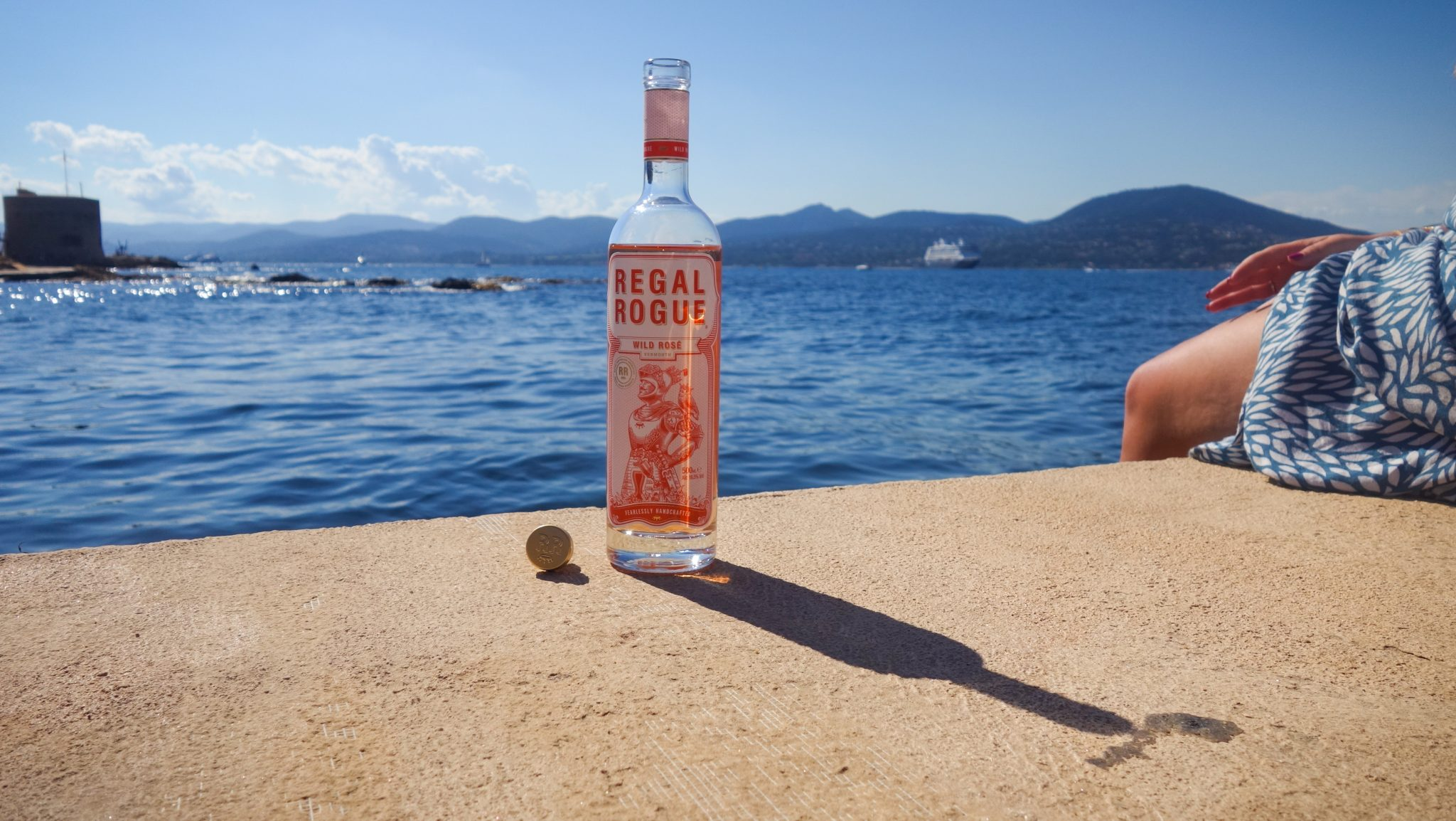 Alcohol Marketing Top 5 header image of Regal Rogue bottle in sunshine in Saint Tropez in France