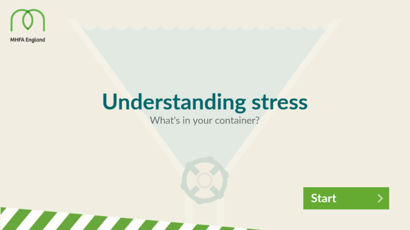 Alcohol and mental health - Interactive tool to understand how your stress container works