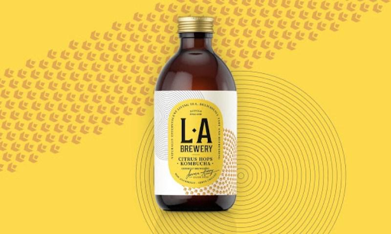 Best Alcohol Free Drinks in the UK - LA Brewery Kombucha - YesMore Alcohol Free Drinks Marketing Agency