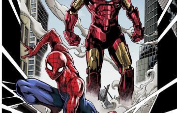 少年ジャンプ作家陣がマーベルと夢のコラボ! 『アイアンマン』や『スパイダーマン』が日本を駆け巡る!