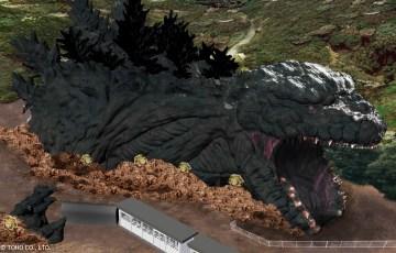 全長約120mの等身大ゴジラ