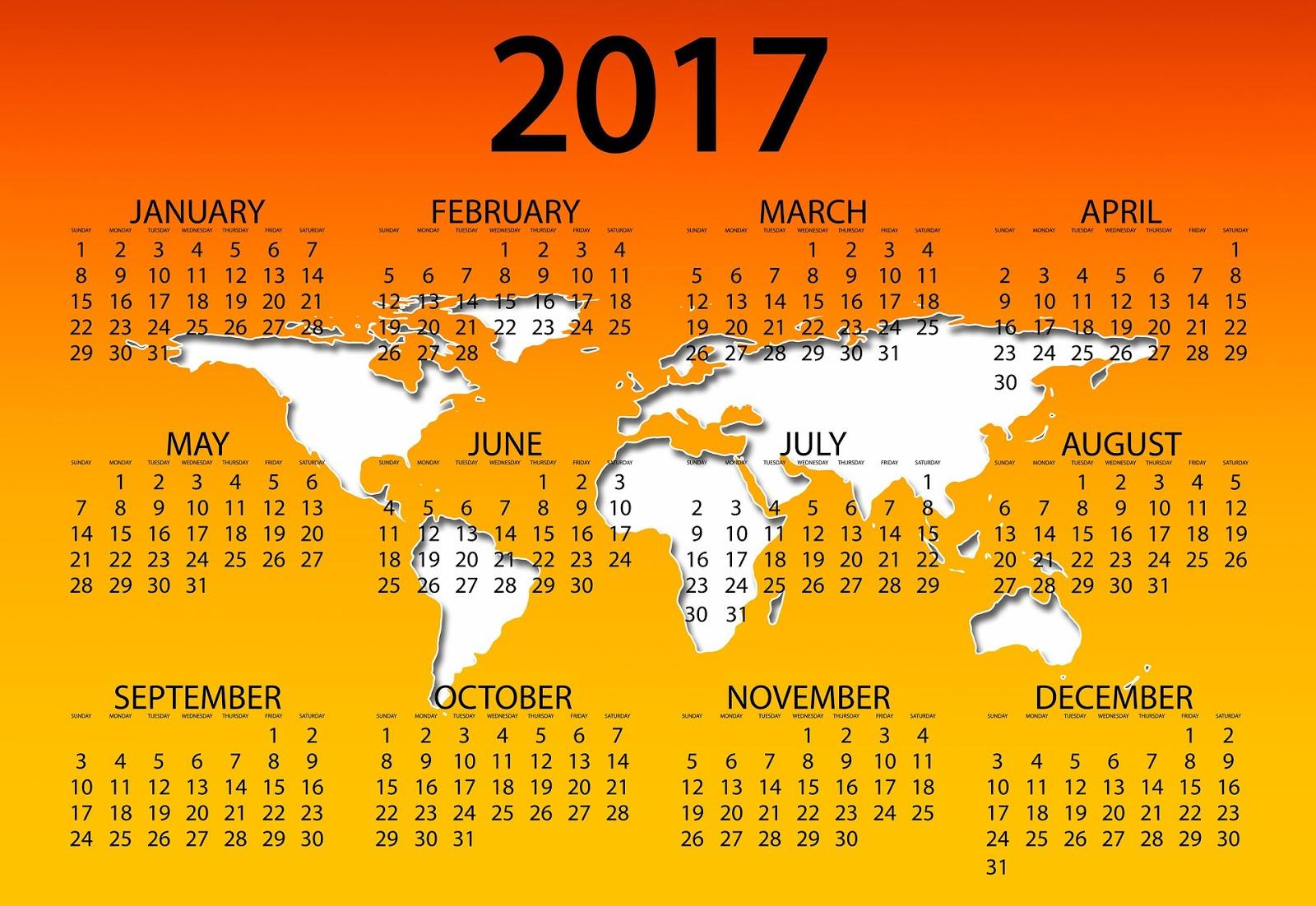 December 2017 Calendar Desktop Wallpaper