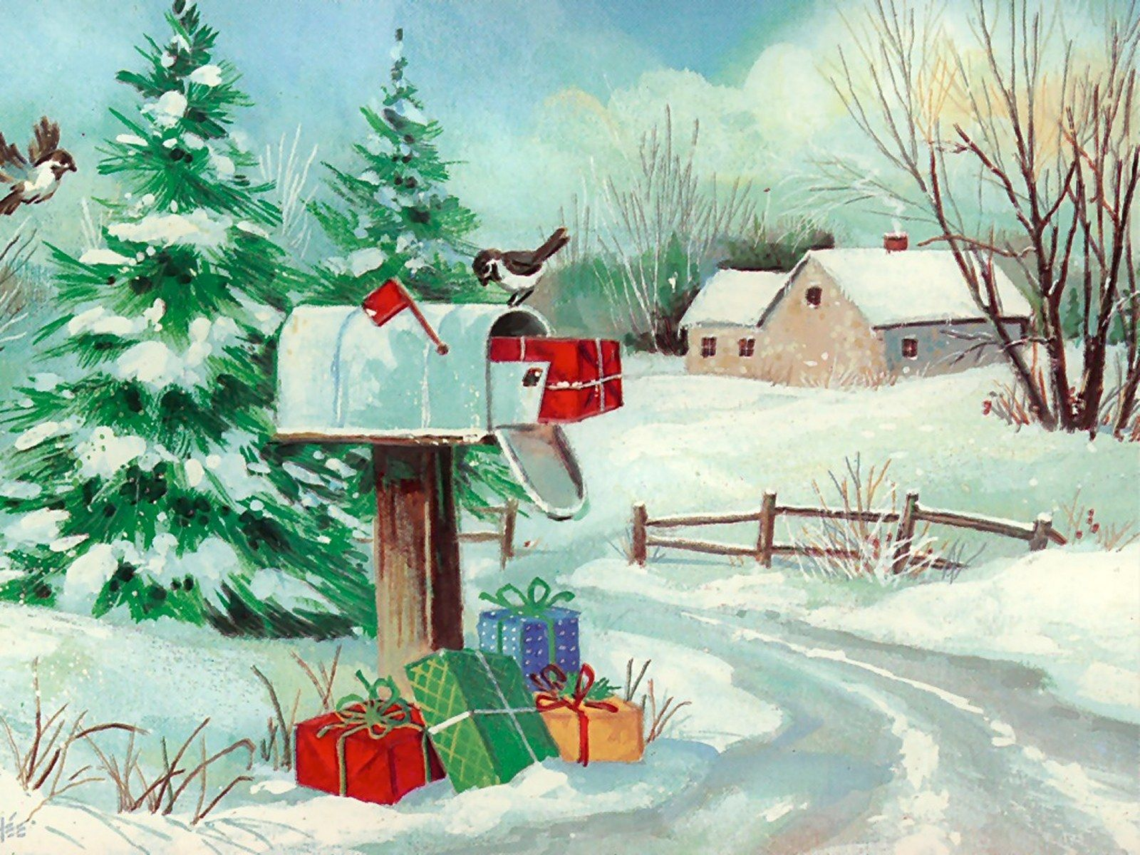 Christmas Art Wallpapers High Quality Download Free