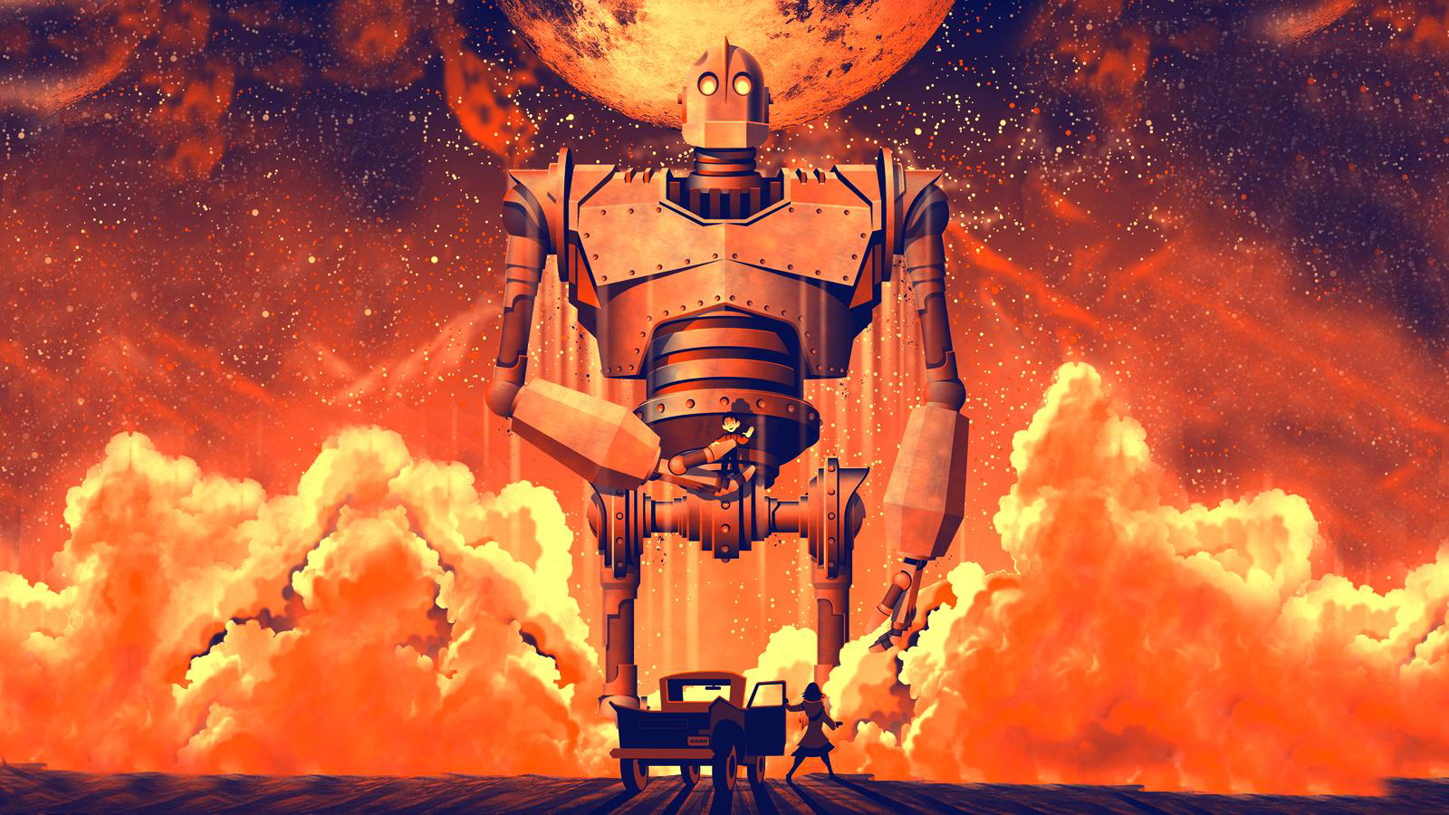 Mega Man Iphone Wallpaper The Iron Giant Wallpapers High Quality Download Free