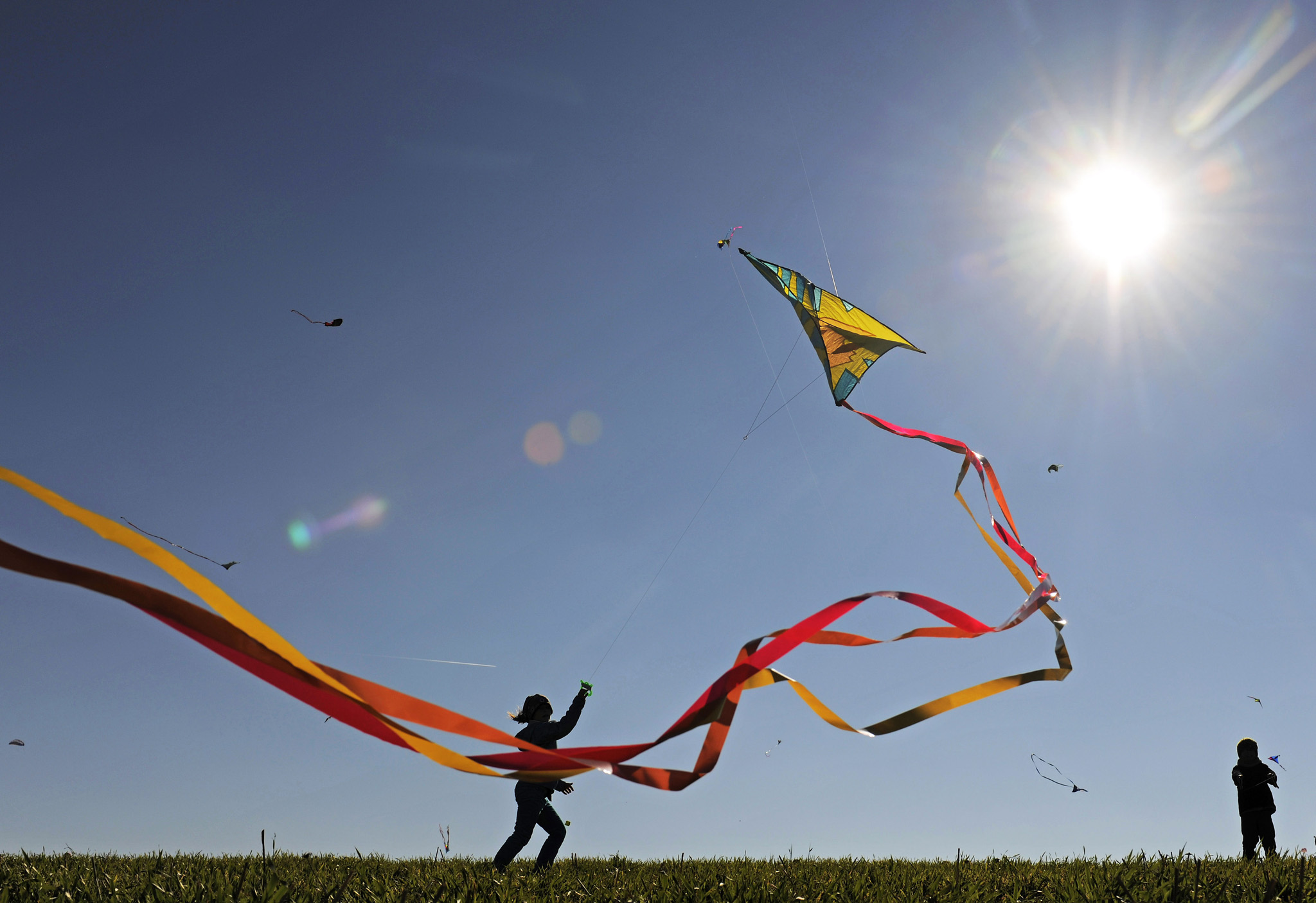 Playing In The Fall Wallpaper Kites Wallpapers High Quality Download Free