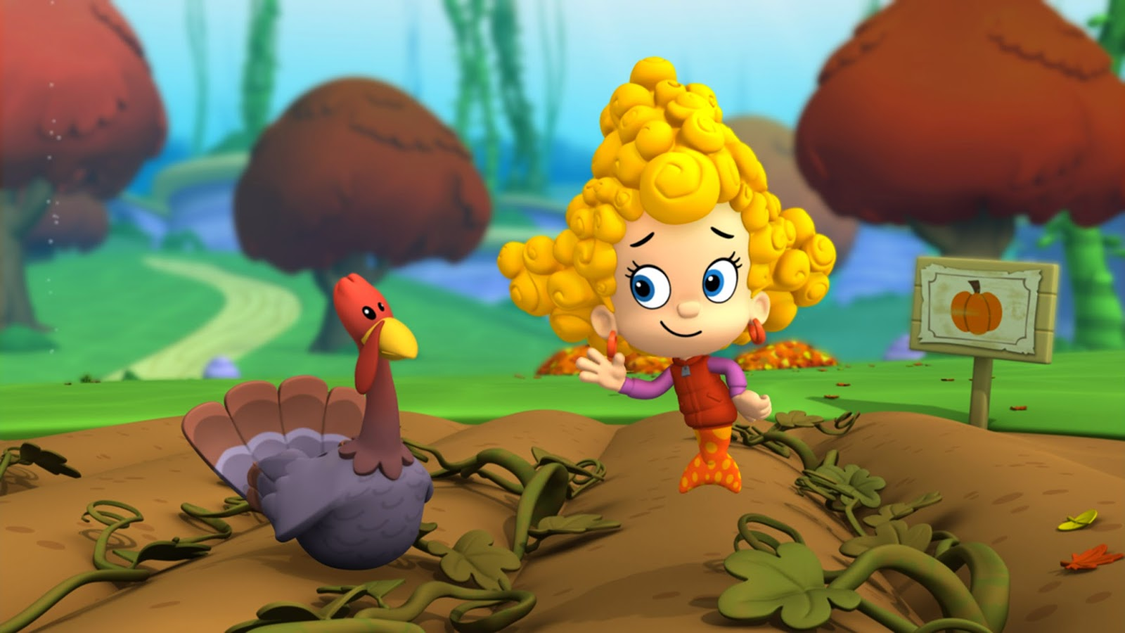 Falling Leaves Wallpaper For Iphone Bubble Guppies Wallpapers High Quality Download Free